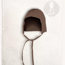 czapka uzbrajanie przeszywanica Leopold bawełniane płótno brązowy