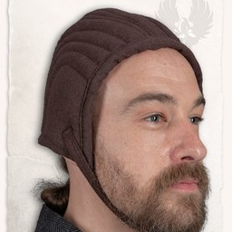 Arming cap gambeson Leopold cotton canvas brown