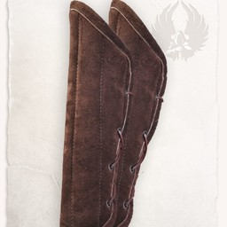 Gambeson arm protectors Leopold suede leather brown