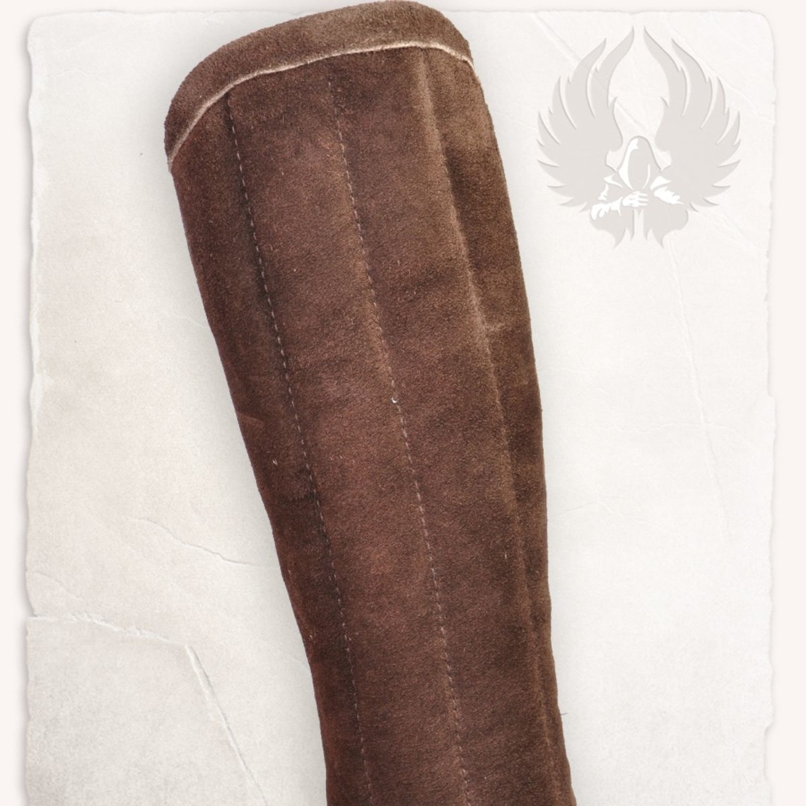 Mytholon Gambeson armbeschermers Leopold suedeleer bruin