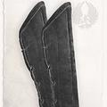 Mytholon Gambeson protettori braccio Leopold camoscio nero in pelle