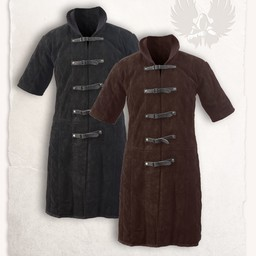 Leather gambeson Leopold black
