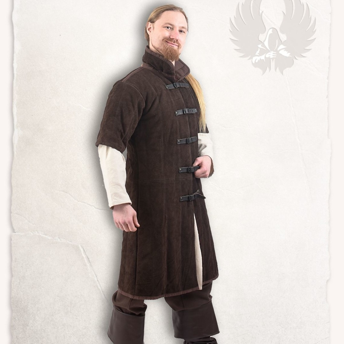 Mytholon Læder gambeson Leopold brun