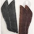 Mytholon Gambeson cretons de cuir noir de Leopold