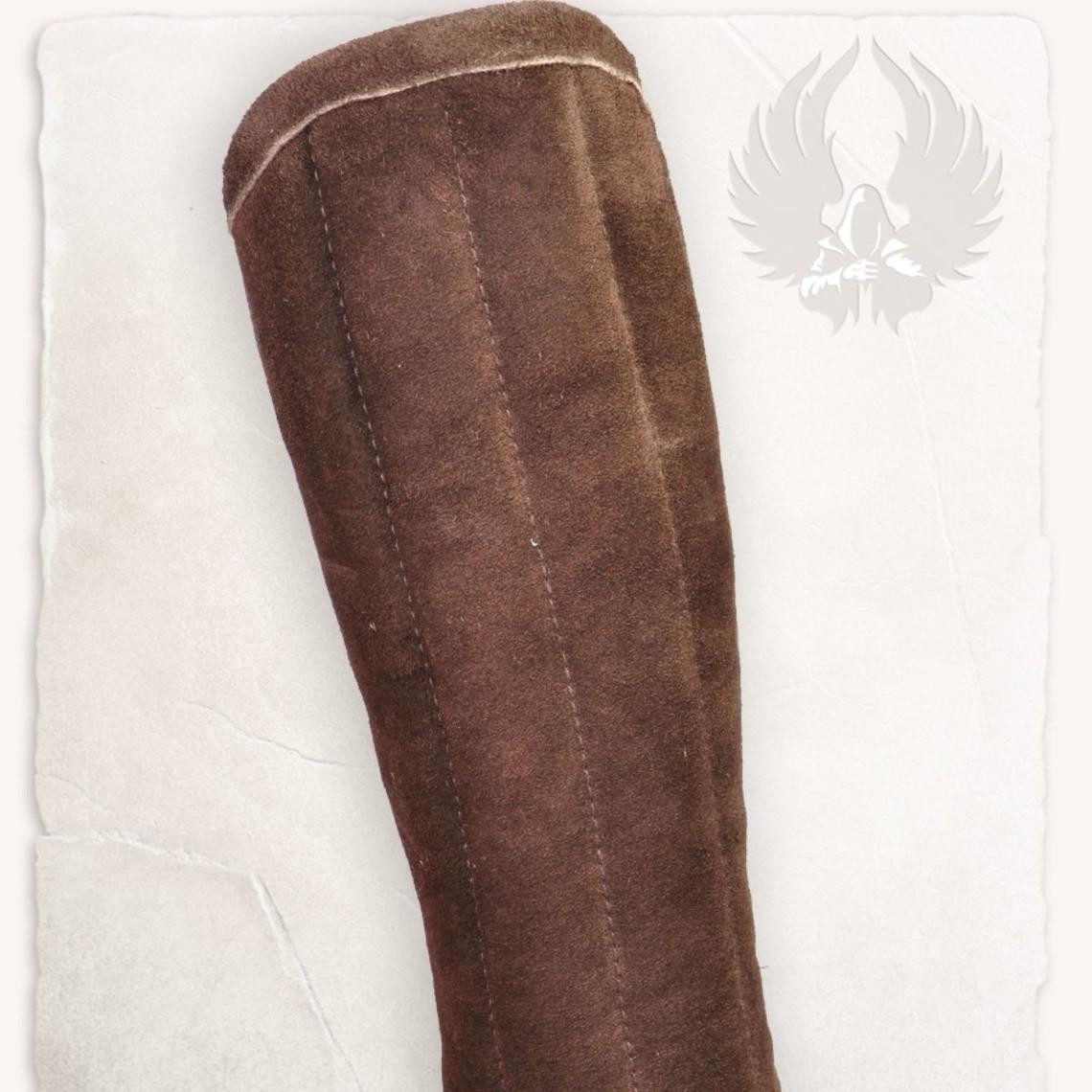 Mytholon Gambeson Greaves Leopold camoscio marrone in pelle