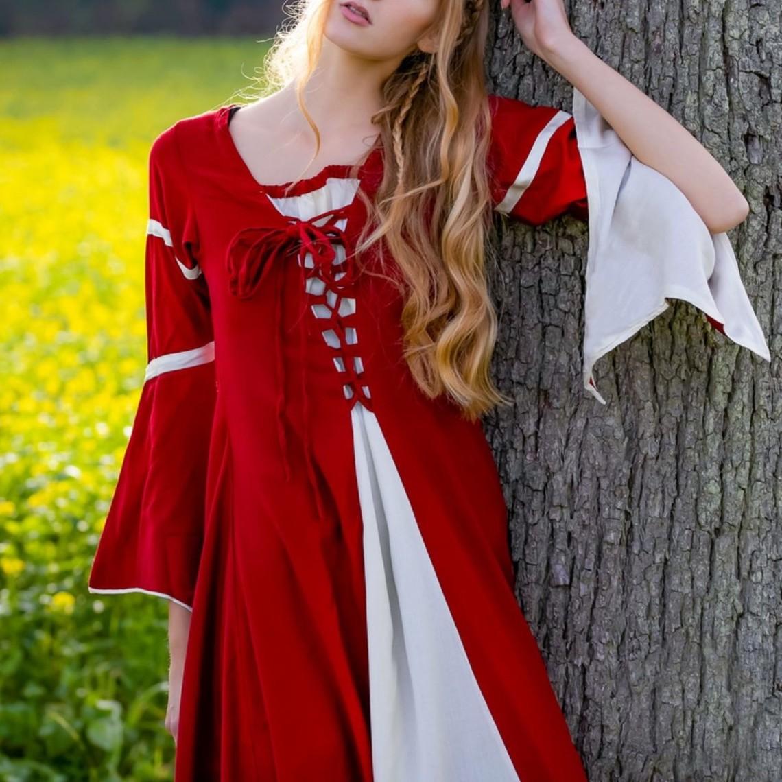 Leonardo Carbone Vestido Eleanora, rojo-blanco