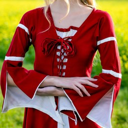 Dress Eleanora red-white
