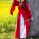 Leonardo Carbone Edele geborduurde jurk Loretta, rood