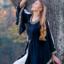 Edele geborduurde jurk Loretta, zwart