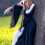 Noble embroidered dress Loretta, black