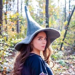 Czarownice kapelusz, szary