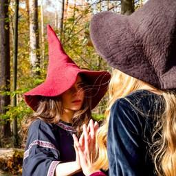 Czarownice kapelusz, czerwony