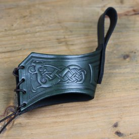 Mytholon Drinking horn belt holder Castagir green