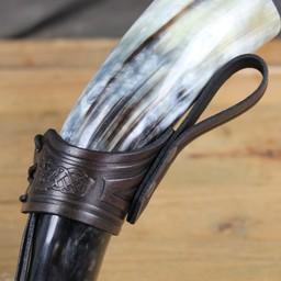 Dryckeshorn hållare Castagir brun
