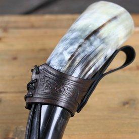 Mytholon Drinking horn belt holder Castagir brown