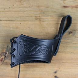 Drinking horn belt holder Castagir black