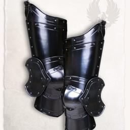 Średniowieczna zbroja noga Balthasar brąz