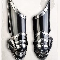 Średniowieczna zbroja noga Edward brąz