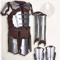 Kompletny zestaw skórzanej zbroi Brigandine Fafnir