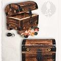 Mytholon Houten kist met edelstenen