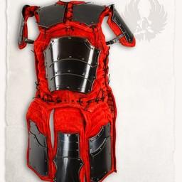 Læder rustning brigandine Fafnir bronzed rød