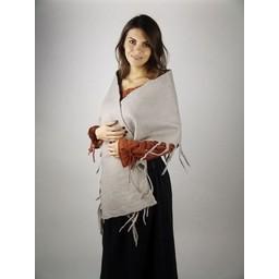17th century woollen shawl grey