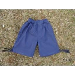 Chłopięce spodnie 3/4 w kolorze niebieskim