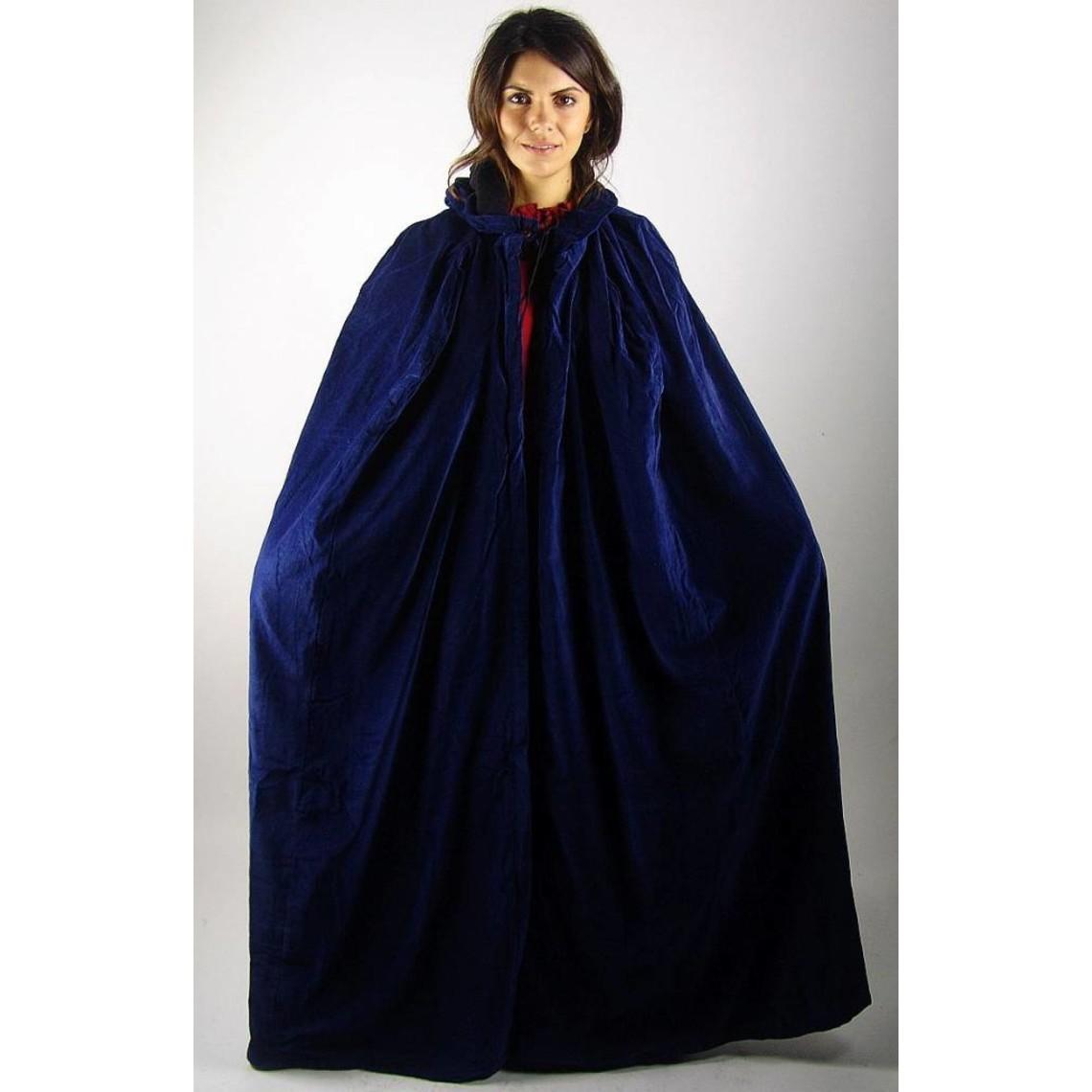 Leonardo Carbone Fluwelen mantel Ilja blauw