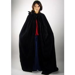Płaszcz aksamitny Ilja czarny