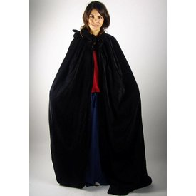 Leonardo Carbone Fluwelen mantel Ilja zwart