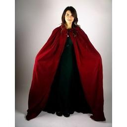 Fluwelen mantel Lily rood