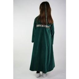 Aksamitna sukienka dziewczęca Ariane w kolorze zielonym