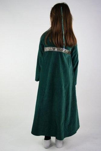 Fluwelen meisjesjurk Ariane groen