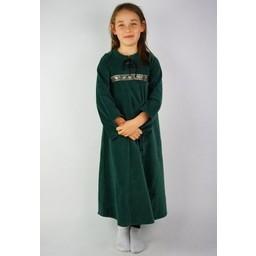 Velvet girl's dress Ariane green