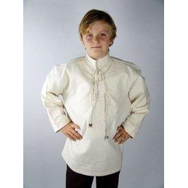 Leonardo Carbone Handgeweven hemd voor jongens crème