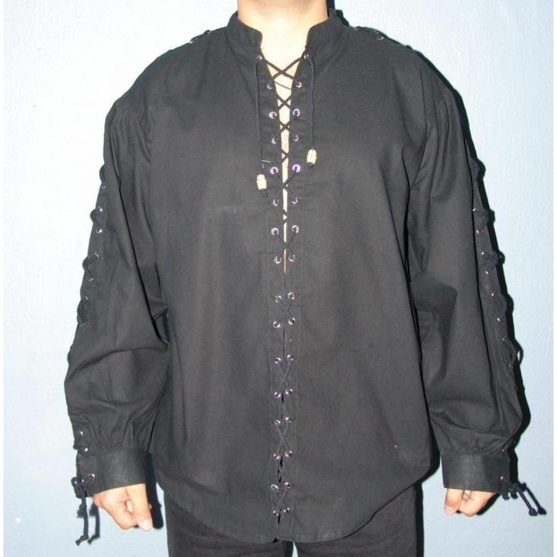 Leonardo Carbone Hemd Tonio zwart