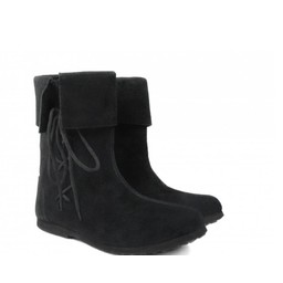 Historical kids boots black