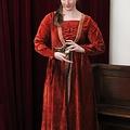 Leonardo Carbone Jurk Borgia rood
