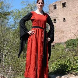 Kjole Philona sort-rød