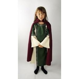 Cotton children's cloak green