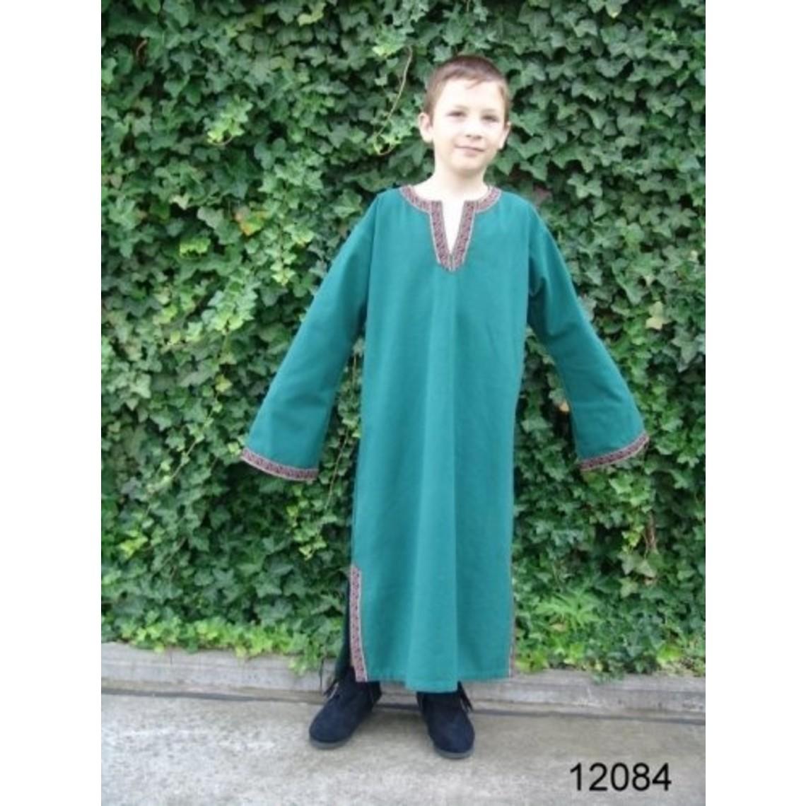 Leonardo Carbone Keltische jongenstuniek Finn groen