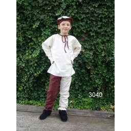 Spodnie dziecięce Edmund brązowo-białe