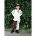 Leonardo Carbone Kinderhemd Peter wit-bruin