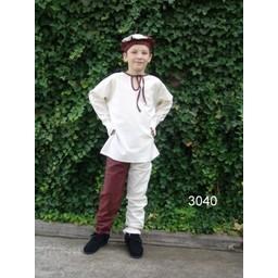 Koszula dziecięca Peter biało-brązowa