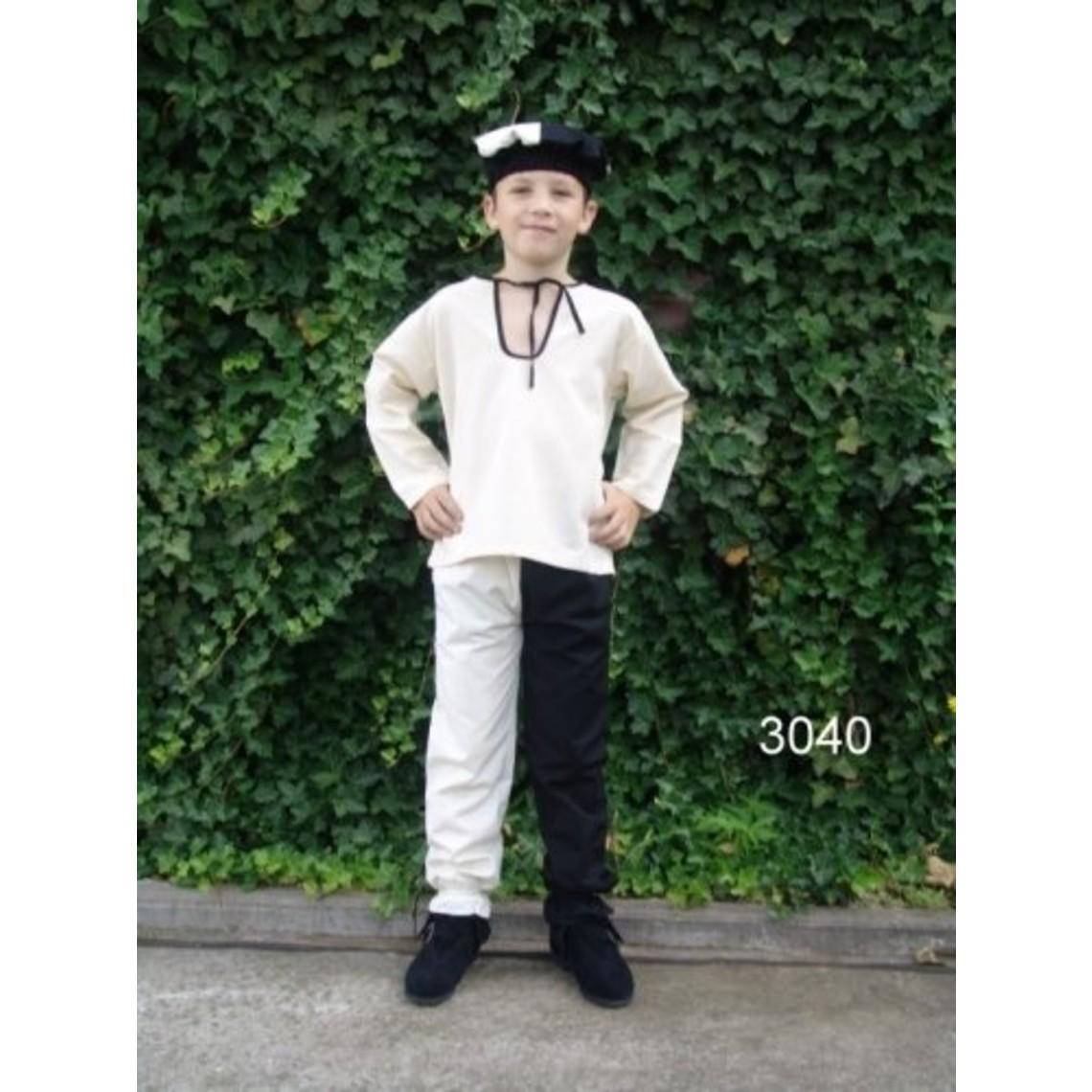 Leonardo Carbone Kinderhemd Peter wit-zwart