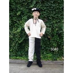Camisa niño Peter blanco-negro