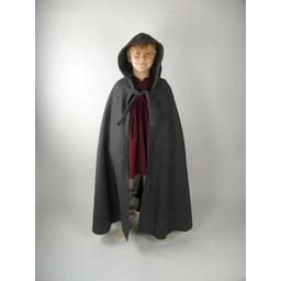 Mantello per bambini con cappuccio crema