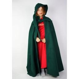 Płaszcz dziecięcy z kapturem zielony