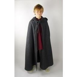 Children's cloak with hood black
