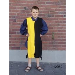 Børns surcoat mi-parti blå-sort
